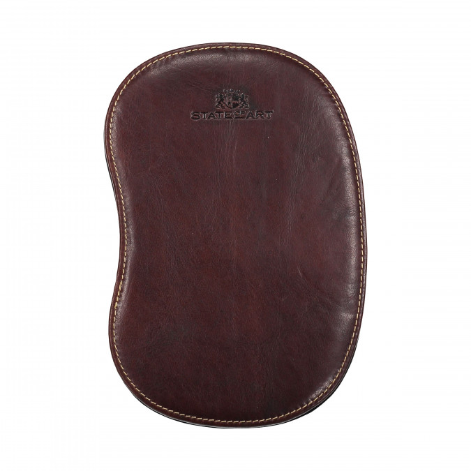 Mouse-Pad-of-Buffalo-Leather---dark-brown-plain