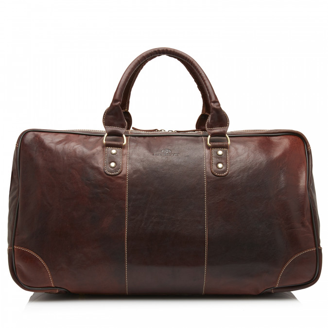 Travel-Bag-with-Adjustable-Schoulder-Strap---dark-brown-plain