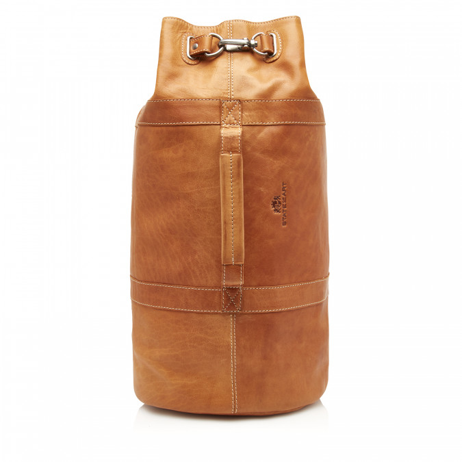 Back-pack-made-of-buffalo-leather---cognac-plain