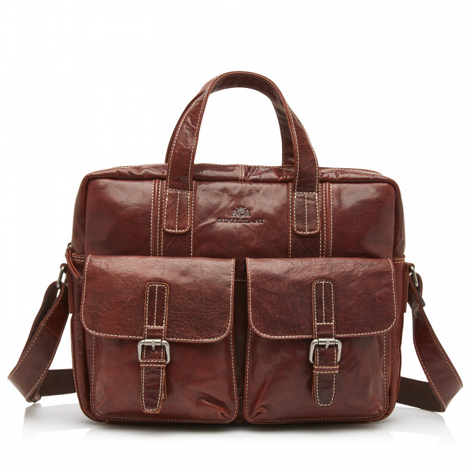 Business-case-of-buffalo-leather---dark-brown-plain
