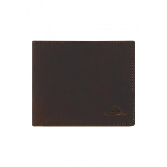 Bifold-wallet-with-coin-pocket---dark-brown-plain