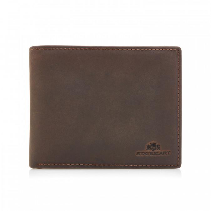 Wallet-with-ID-window---dark-brown-plain