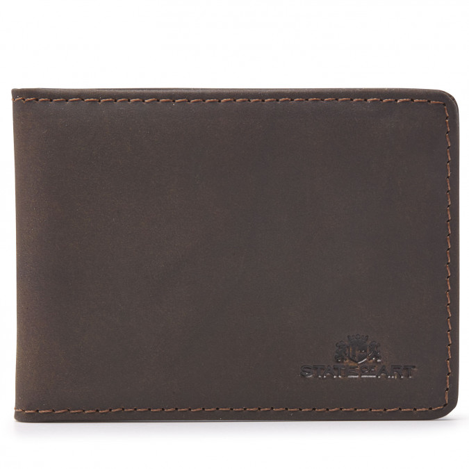 Card-holder-made-of-leather---dark-brown-plain
