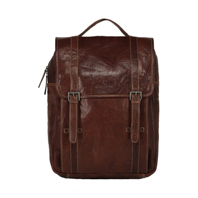 Business-rucksack-made-of-buffalo-leather---dark-brown-plain