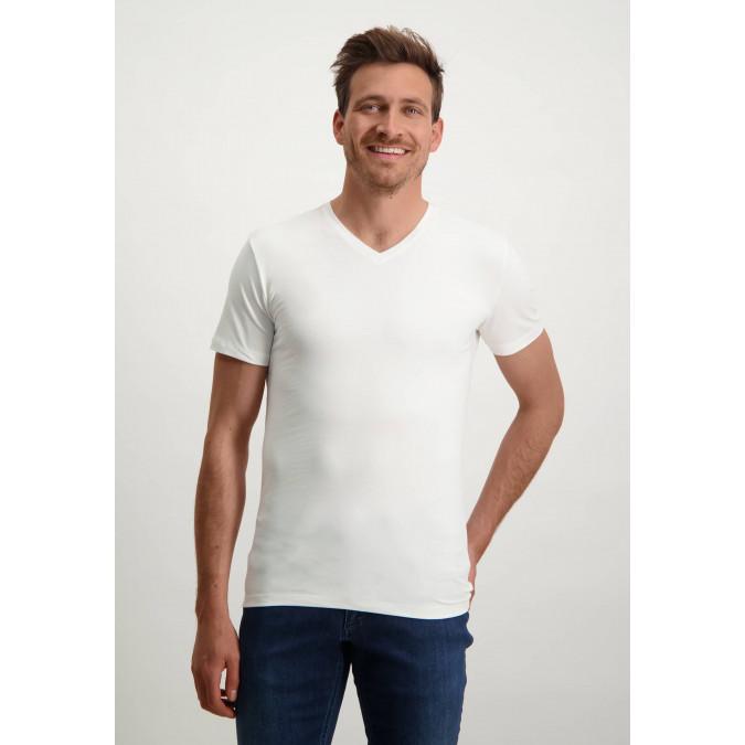 T-Shirt-V-Neck-Plain---white-plain
