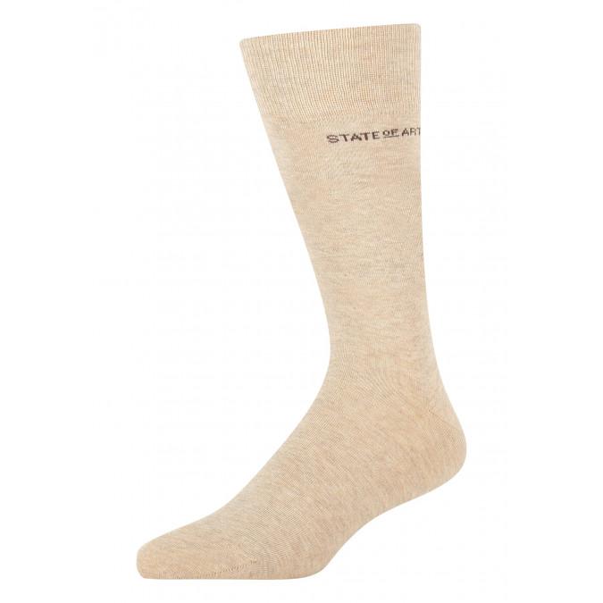 Socks-made-of-blended-cotton---cream-plain