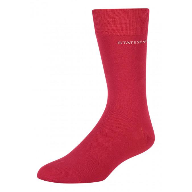 Socks-made-of-blended-cotton---red-plain
