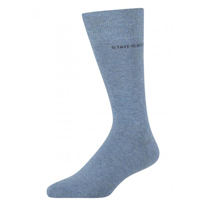 Socks-made-of-blended-cotton---blue-plain