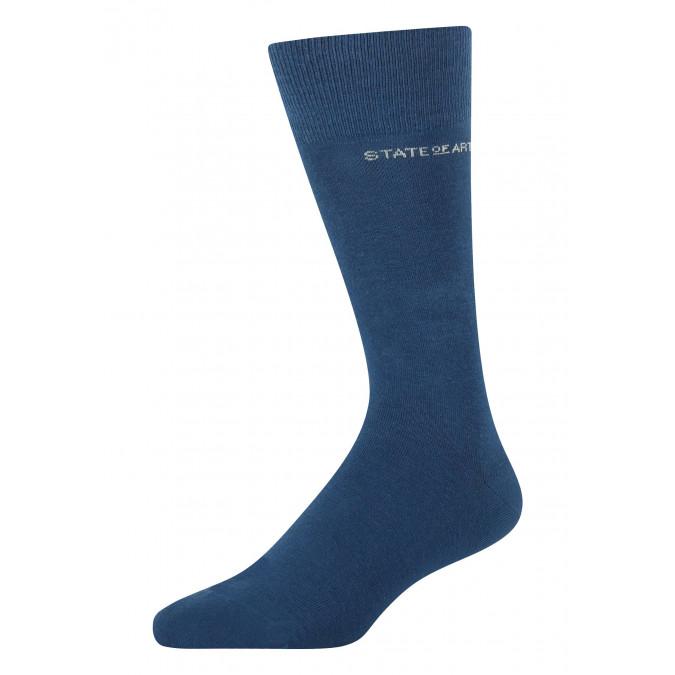 Socks-made-of-blended-cotton---cobalt-plain