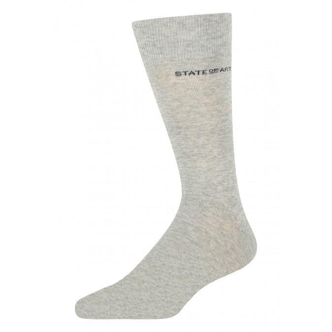 Socken,-uni,-Baumwoll-Mix---silbergrau-uni