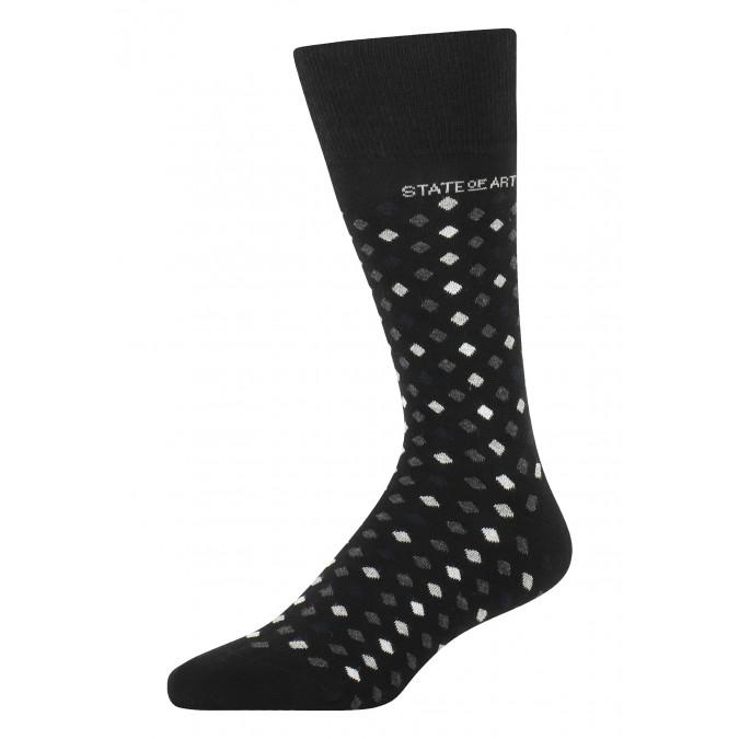 Socks-jacquard-with-a-brand-logo---black/silver-grey