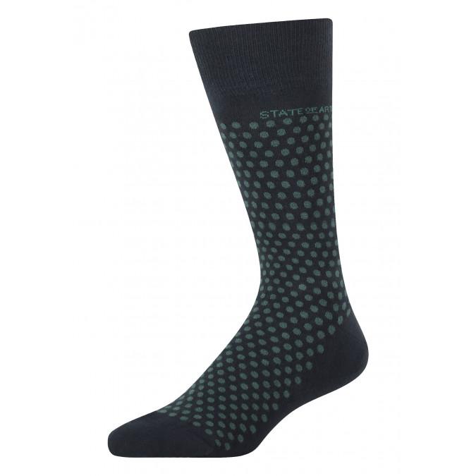 Socks-jacquard-with-a-dot-print---midnight/dark-green