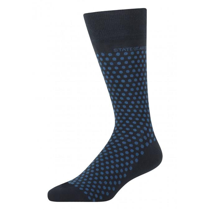 Socks-jacquard-with-a-dot-print---midnight/cobalt