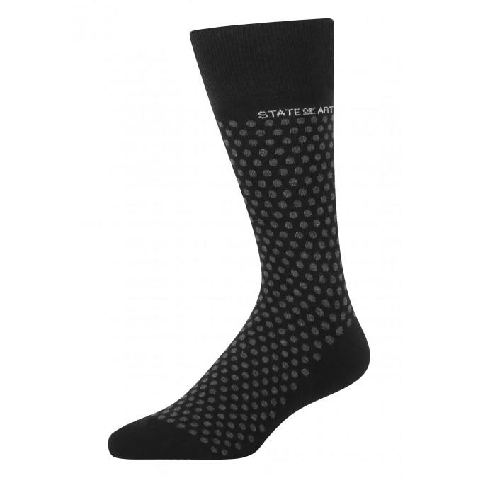 Socks-jacquard-with-a-dot-print---black/charcoal