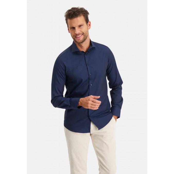 Modern-Classics-Easy-Care-overhemd---donkerblauw-uni