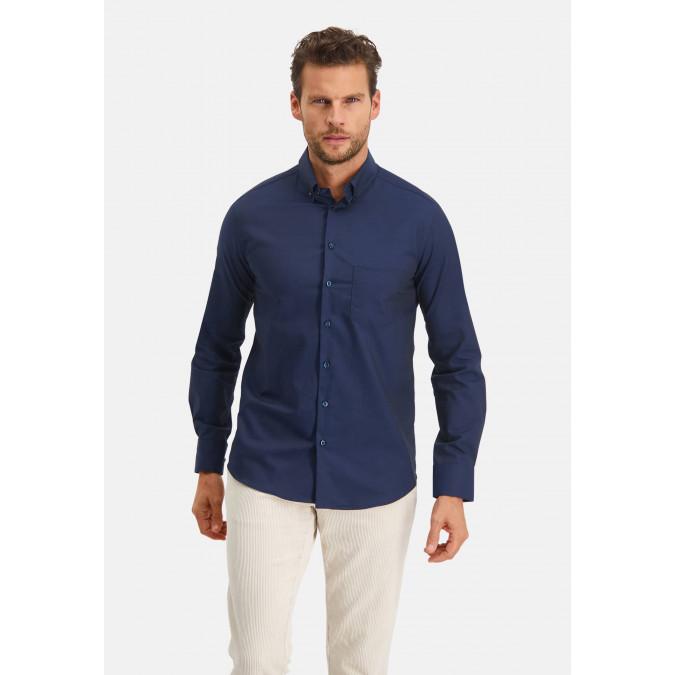 Modern-Classics-shirt-Easy-Care---dark-blue-plain
