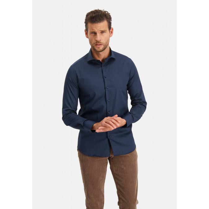Modern-Classics-shirt-Spill-Resistant-Finish---dark-blue-plain